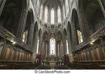 Narbonne (France), cathedral interior - Narbonne (Aude,...