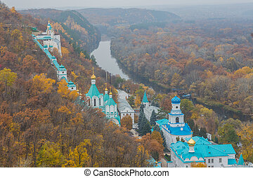 Orthodox church in Svyatogorsk, Donetsk Region, Ukraine