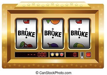 Broke Slot Machine Gold - Broke - slot machine with three...