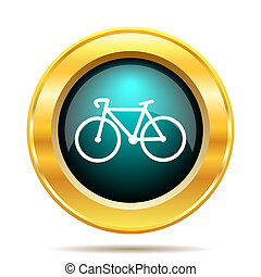 Bicycle icon Internet button on white background