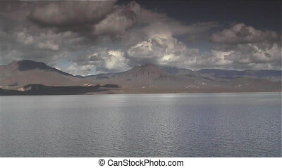 Storm at Lake Roosevelt - Thunderstorm approaching Lake...