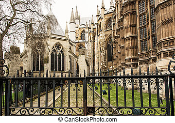 Majestic Westminster Abbey in London, Great Britain,...