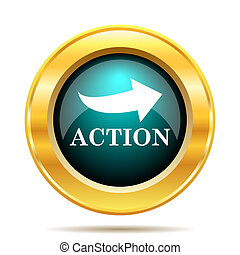 Action icon Internet button on white background