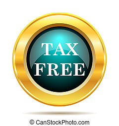 Tax free icon Internet button on white background