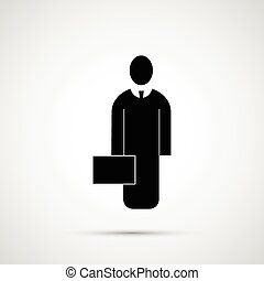 People design. Icon man with briefcase.