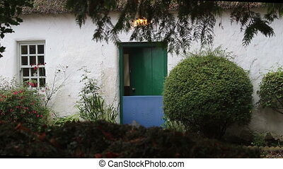 Green Door - A old Whitewashed cottage's green door....