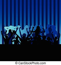 party people blue vector