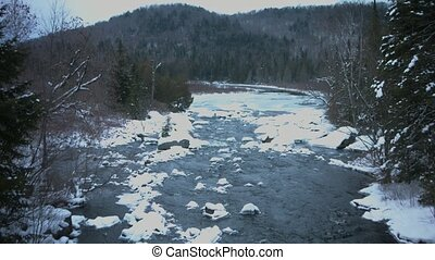 canadian river in winter