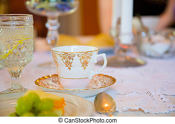 Afternoon Tea Party - Tea party on a wedding day for the...