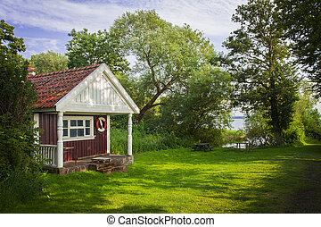 cottage, estate