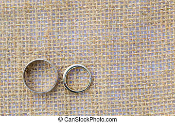 Bride and Groom Wedding Rings - Bride and groom wedding...