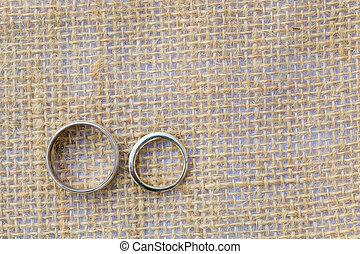 Bride and Groom Wedding Rings - Bride and groom wedding...