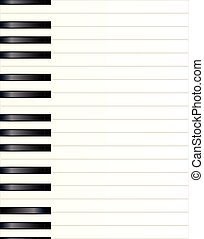 Piano Key Background - Black and white piano keys extended...