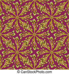 Modern Baroque Seamless Pattern - Digital technique nature...