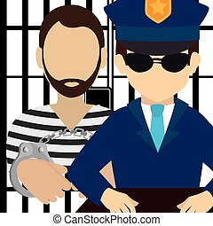 Law and legal justice graphic design, vector illustration...