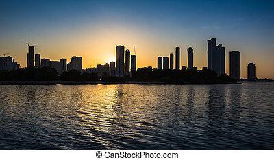 Skyscrapers in Sharjah cityUAE - Skyscrapers in Sharjah city...