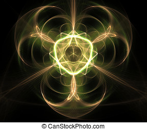 Computer generated fractal artwork for creative art,design...
