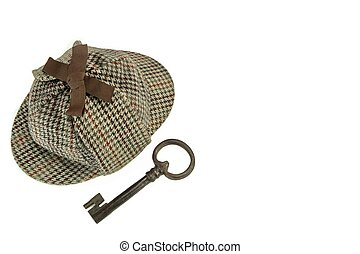 Investigation Concept With  Sherlock Holmes Hat Famous As  Deerstalker