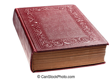 Ancient closed book - The ancient closed book in darkly red...