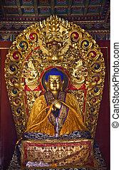 Blue Buddha Details Yonghe Gong Buddhist Temple Beijing...