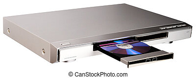 DVD player with open tray - DVD player with open disk tray...