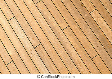 Diagonal Wooden Ship Deck Background with free spac for text