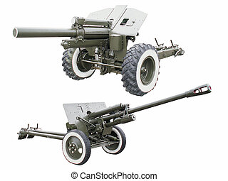 Cannons. Isolated on white background. For you design