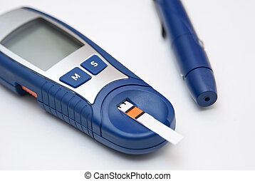 Glucometer - Blood glucose meters on a white background