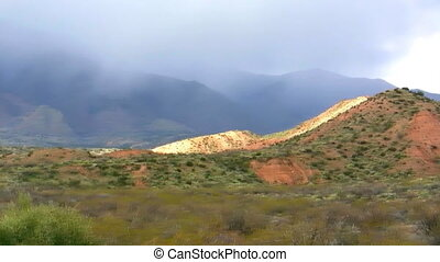 Mountain Storm - Snowstorm on Arizona Mountains