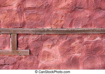Half-Timbered Stonewall Background - Half-Timbered Red...
