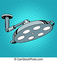 Medical equipment operating light pop art retro style