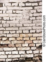 Old White Bricklaying Texture - Old White Rustic Grungy...
