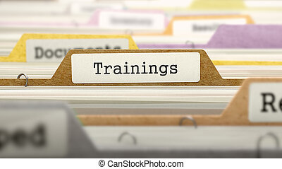 Trainings Concept. Folders in Catalog. - Trainings Concept....