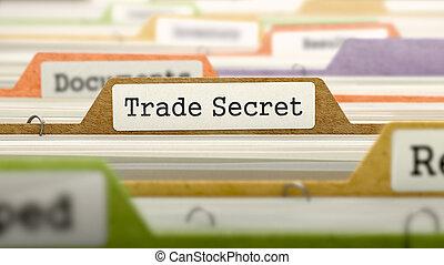 File Folder Labeled as Trade Secret. - File Folder Labeled...