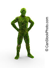 Herbal man made in 3D graphics