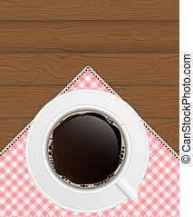 Black Coffee Background Photo-Realistic Vector EPS10