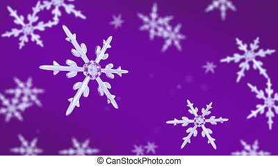 snowflakes focusing background purple hd - Ice crystal...