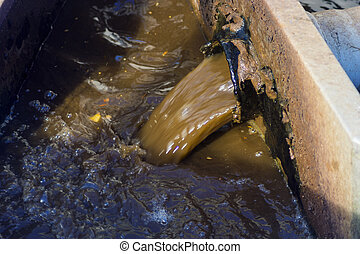 sewer waste water ditch