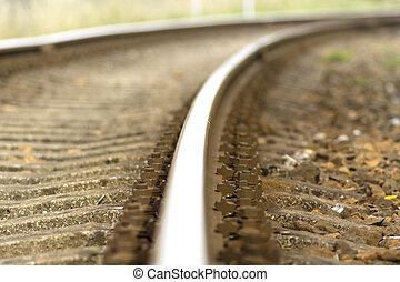 train tracks detail