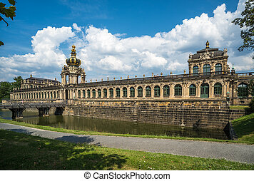 Zwinger Palace and museum complex in Dresden, eastern...