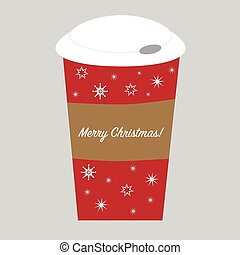 Merry Christmas Cup with snowflakes