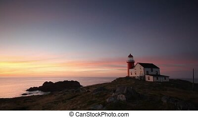 Lighthouse Sunrise - Sunrise at the Ferryland lighthouse.