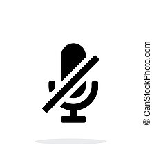 Turn off microphone simple icon on white background