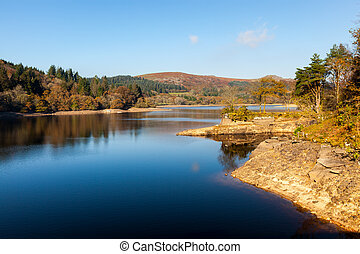Burrator Reservoir Dartmoor Devon - Burrator Reservoir on...