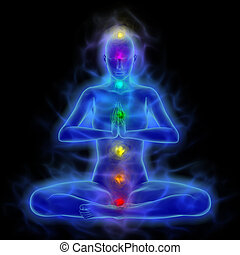 Aura - energy body - healing energy in meditation -...