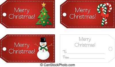 Christmas gift tag Clipart Vector and Illustration. 11,857 ...
