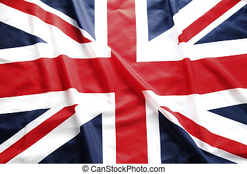 British flag - Closeup of Union Jack flag