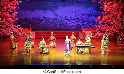 Tang Dynasty show at the Xian - XIAN, CHINA-OCTOBER, 14...