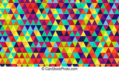 bright color triangles back - bright color triangles....