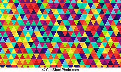 bright color triangles back - bright color triangles...
